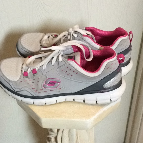 Skechers Shoes   Sport Pink Gray White